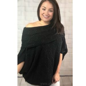 Sweaters - Black off the shoulder sweater